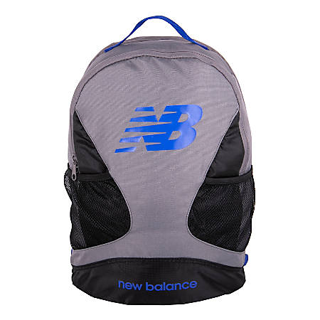 """New Balance Players Backpack With 17"""" Laptop Pocket, Gunmetal"""