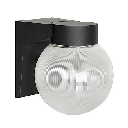 Luminance LED Wall Mount Porch Fixture, 9 Watts, 4000K/Cool White, 850 Lumen, Black/Clear Prismatic Globe