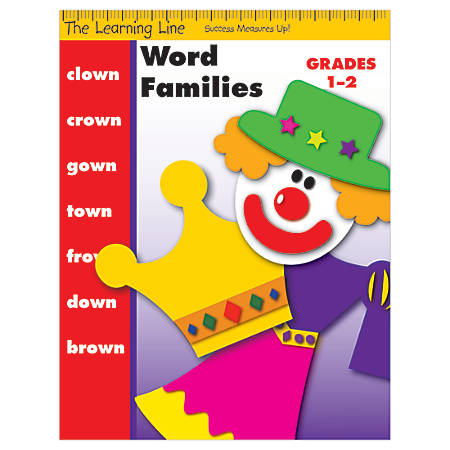 Evan-Moor® Learning Line: Word Families, Grades 1-2