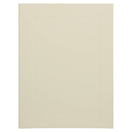 """JAM Paper® Note Cards, Fold-Over, Panel Border, 4 5/8"""" x 6 1/4"""", Ivory, Pack Of 25"""
