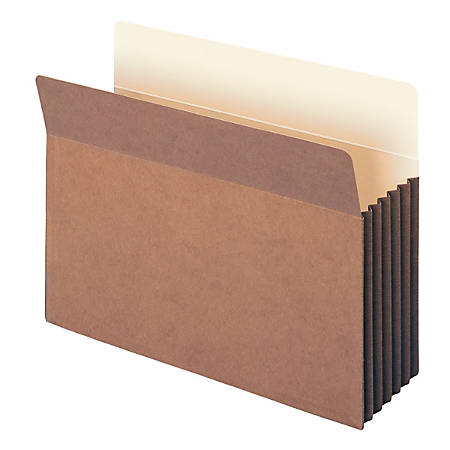 "Smead® TUFF® Pocket File Pockets, 5 1/4"" Expansion, 9 1/2"" x 11 3/4"", 30% Recycled, Dark Brown, Pack Of 10"