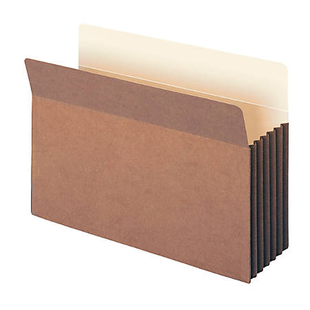 """Smead® TUFF® Pocket File Pockets, 5 1/4"""" Expansion, 9 1/2"""" x 14 3/4"""", 30% Recycled, Dark Brown, Pack Of 10"""