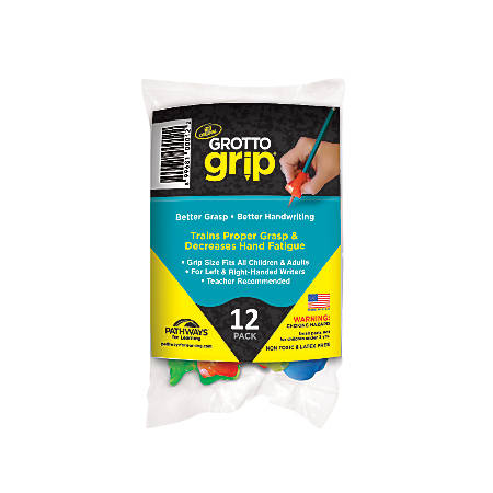 Pathways For Learning Grotto Grips, Assorted Colors, Pack Of 12