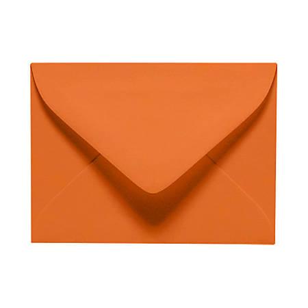 """LUX Mini Envelopes With Moisture Closure, #17, 2 11/16"""" x 3 11/16"""", Mandarin Orange, Pack Of 250"""