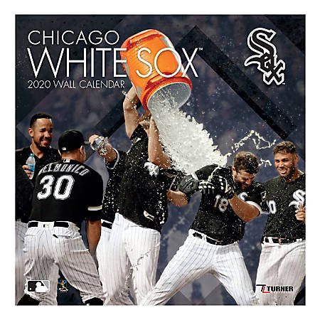 "Turner Licensing Monthly Wall Calendar, 12"" x 12"", Chicago White Sox, 2020"