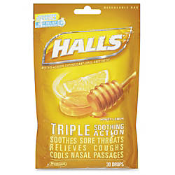 Cadbury Halls Honey Lemon Cough Drops
