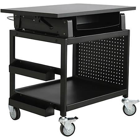 Lorell® Industrial Mobile Workstation, Black
