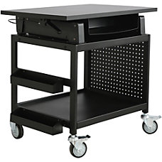 Lorell Industrial Mobile Workstation Black
