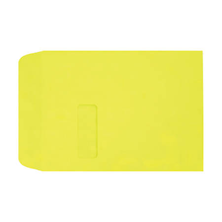 "LUX Open-End Window Envelopes With Peel & Press Closure, #9 1/2, 9"" x 12"", Citrus, Pack Of 500"