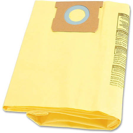 Shop-Vac 5-8 gal High-eff Collection Filter Bags - 8 gal - Yellow