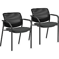 Lorell Mesh Back Guest Chairs Black
