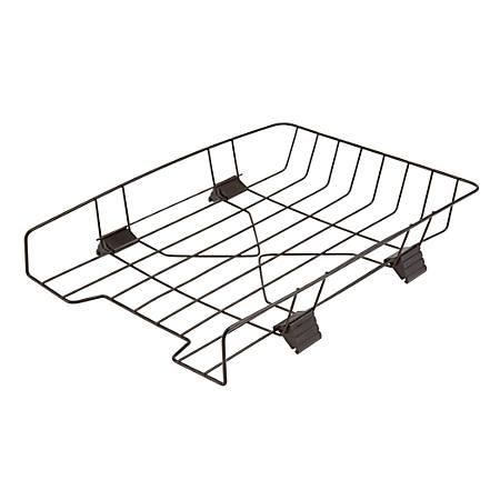 Office Depot® Brand Interlocking Desk Tray, Legal Size, Black