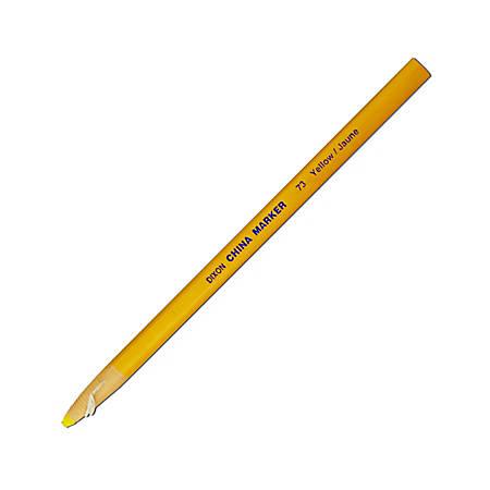 Dixon® Phano® China Markers, Yellow, Box Of 12