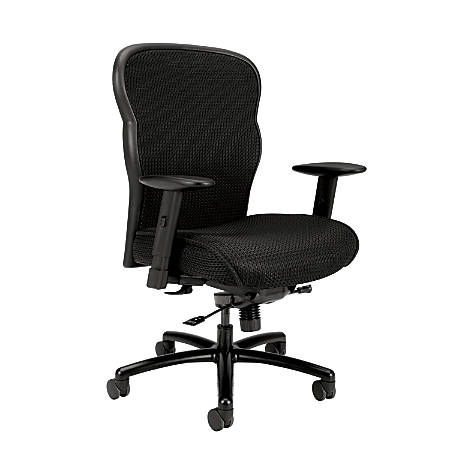 "basyx by HON® VL705 Mesh Big & Tall Chair, 41 1/2""H x 29 1/2""W x 25 5/8""D, Black"
