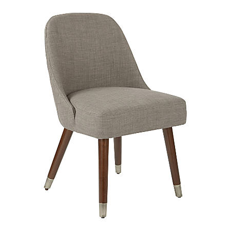 Ave Six Jenna Dining Chairs, Milford Dove/Coffee, Set Of 2