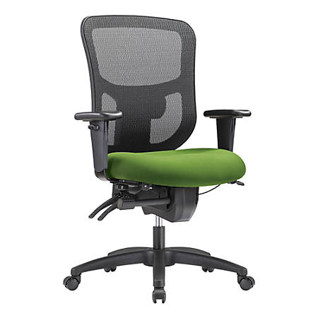WorkPro® 9500XL Big and Tall Fabric/Mesh Mid-Back Multifunction Chair, Lime/Black