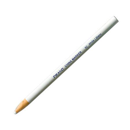 Dixon® Phano® China Markers, White, Box Of 12