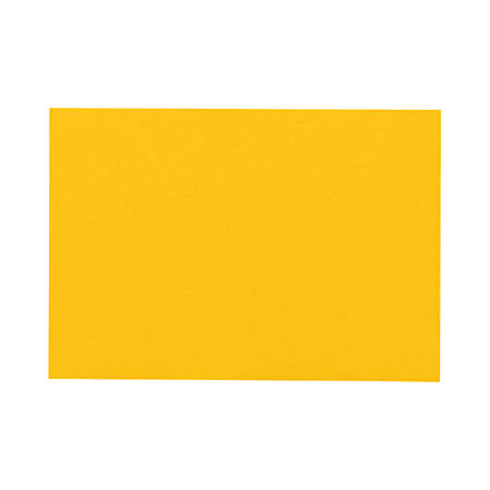 "LUX Flat Cards, A6, 4 5/8"" x 6 1/4"", Sunflower Yellow, Pack Of 250"