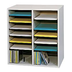 Safco Adjustable Wood Literature Organizer 20