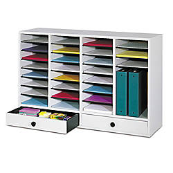 Safco Adjustable Wood Literature Organizer 25