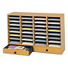Safco Adjustable Wood Literature Organizer 25