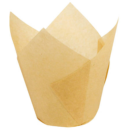 Hoffmaster Tulip Baking Cups, Small, Natural, Case Of 1,000 Cups