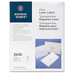 Business Source Clear Shipping Labels Permanent