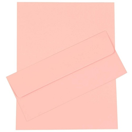 jam paper business stationery set 8 12 x 11 baby pink set of 50