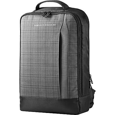 HP Slim Laptop Backpack forUltrabook, Black, Gray