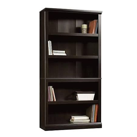 Sauder® Select Bookcase, 5 Shelf, Estate Black