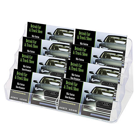 """Deflect-O® 8-Compartment Business Card Holder, 3 7/8""""H x 7 7/8""""W x 3 5/8""""D, Clear"""