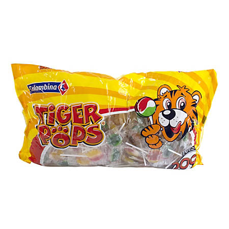 Tiger Pops, 200 Individually Wrapped Lollipops, 4.4-Lb Bag