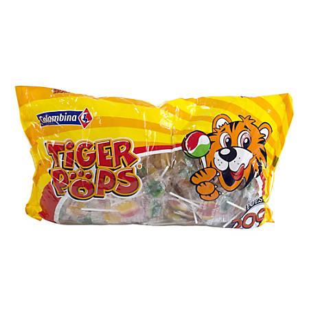 Tiger Pops, 200 Individually Wrapped Lollipops, 4.4-Lb Bag