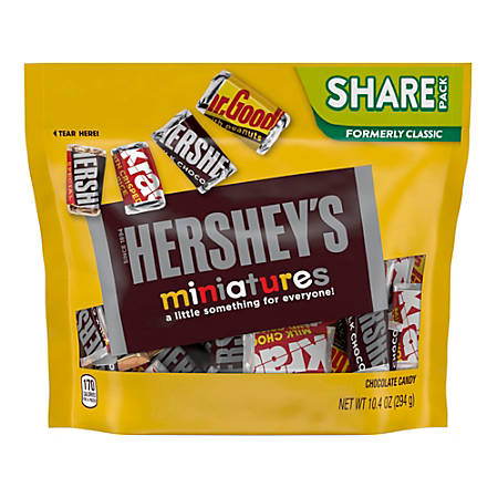 Hershey's® Miniatures Chocolate Candy Assortment, 10.4 Oz Bag, Pack Of 3 Bags