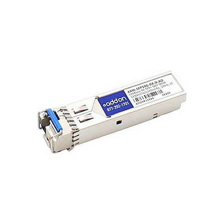 AddOn Netgear Compatible TAA Compliant 10GBase-BX SFP+ Transceiver (SMF, 1330nmTx/1270nmRx, 10km, LC, DOM) - 100% compatible and guaranteed to work