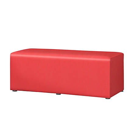 "Marco Rectangle Bench, 16""H, Tomato"