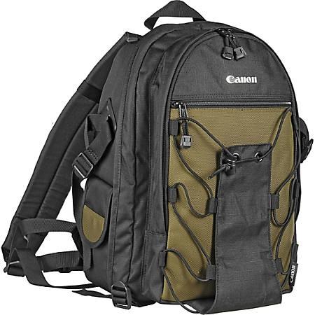Canon 200EG Deluxe Camera Case - Backpack - Shoulder Strap - Nylon - Black, Olive