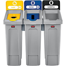 Rubbermaid Commercial Slim Jim Recycling Station