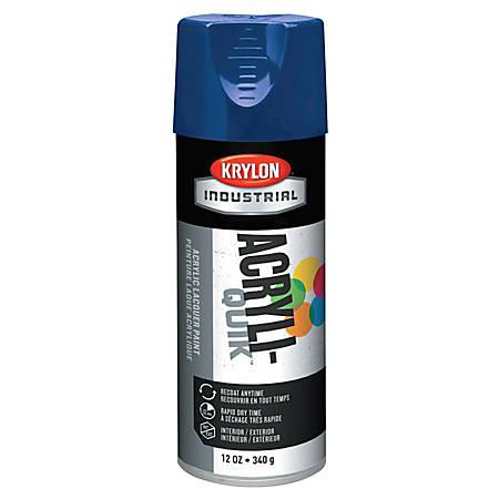 Krylon® Interior/Exterior Industrial Maintenance Paint, 12 Oz Aerosol Can, Regal Blue
