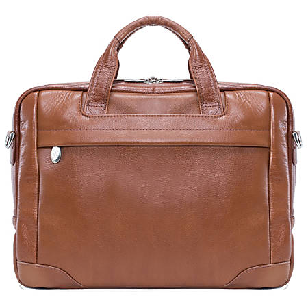 McKleinUSA BRIDGEPORT Large Laptop Brief, Brown