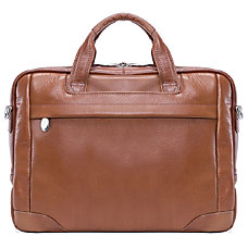 McKleinUSA BRIDGEPORT Large Laptop Brief Brown