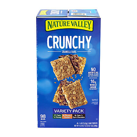 Nature Valley Crunchy Granola Bars, Box Of 49, Assorted