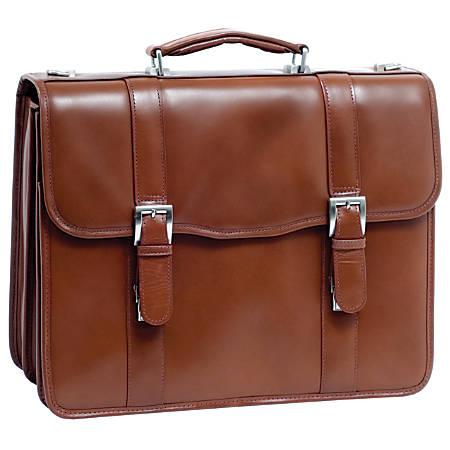 McKleinUSA FLOURNOY Double Compartment Laptop Case, Brown