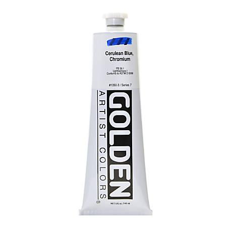 Golden Heavy Body Acrylic Paint, 5 Oz, Cerulean Blue Chromium