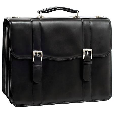 McKleinUSA FLOURNOY Double Compartment Laptop Case, Black