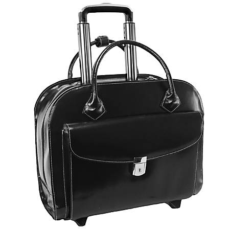 McKleinUSA GRANVILLE Wheeled Ladies' Laptop Case, Black