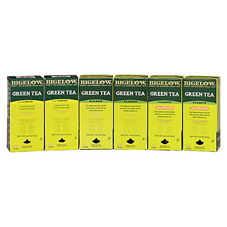 Bigelow Assorted Green Tea Bags, Box Of 168