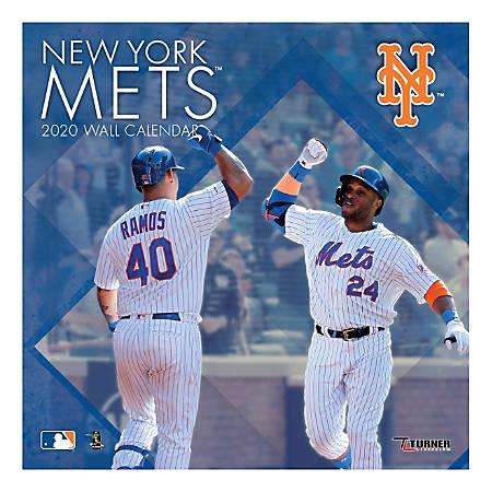 Mets Calendar 2020 Turner Licensing NY Mets Wall Calendar 2020   Office Depot