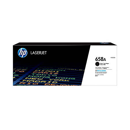 HP 658A LaserJet Toner Cartridge, Black, W2000A