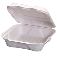 GenPak Harvest Fiber Compostable Hinged Containers